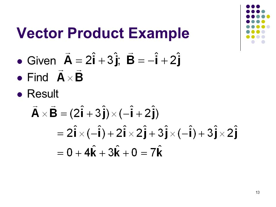 Vector Product Example