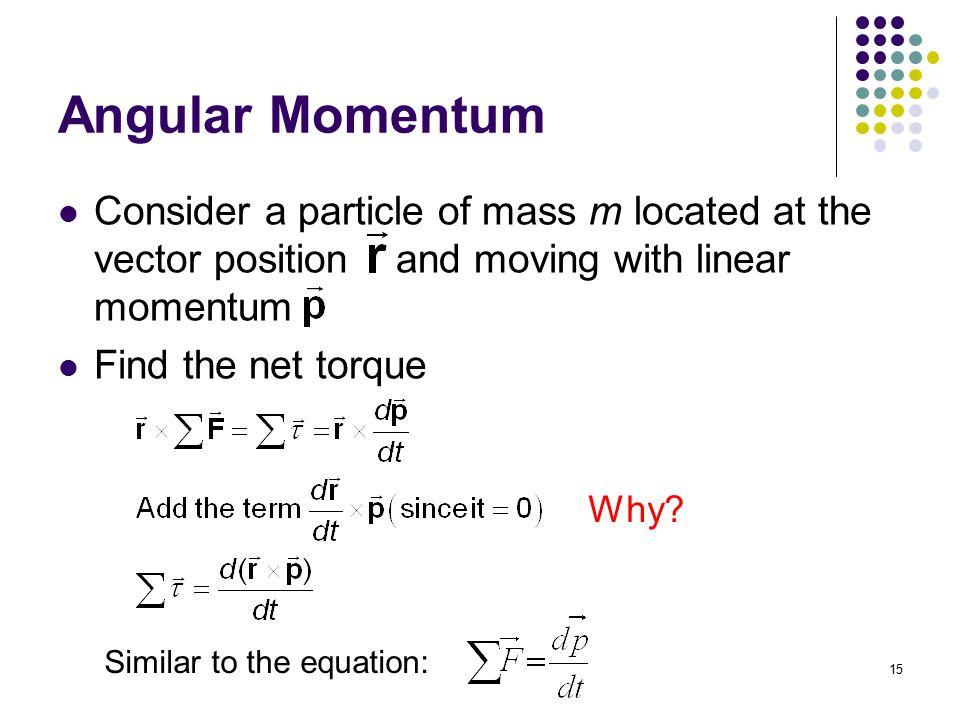 equation for angular momentum