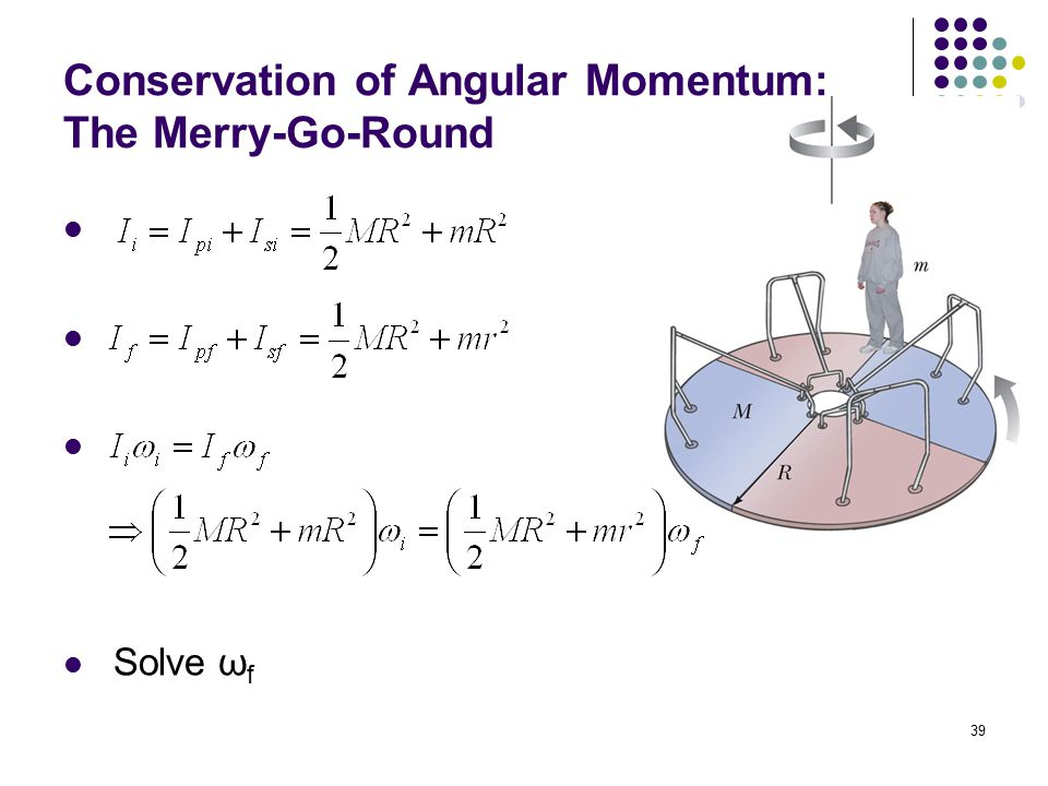 Conservation of Angular Momentum: The Merry-Go-Round