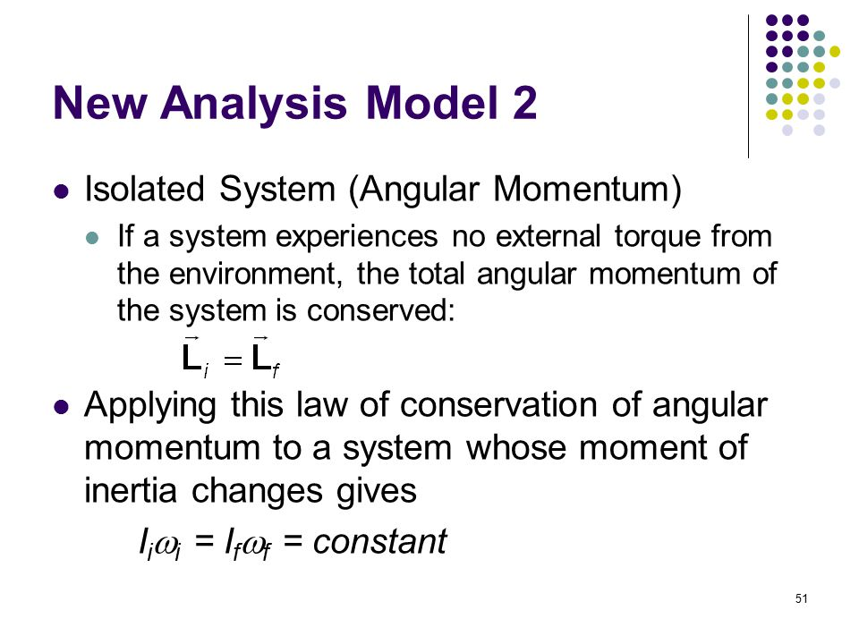 New Analysis Model 2 Isolated System (Angular Momentum)