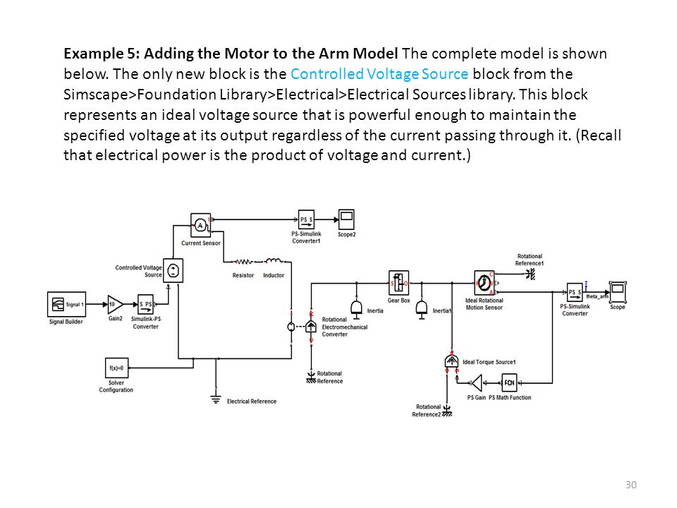 Using Simscape™ for Modeling Electromechanical Systems: - ppt video