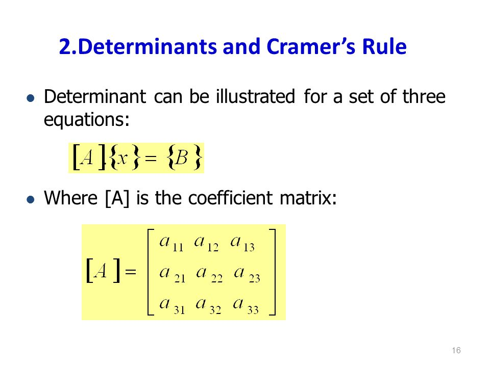 2.Determinants and Cramer's Rule