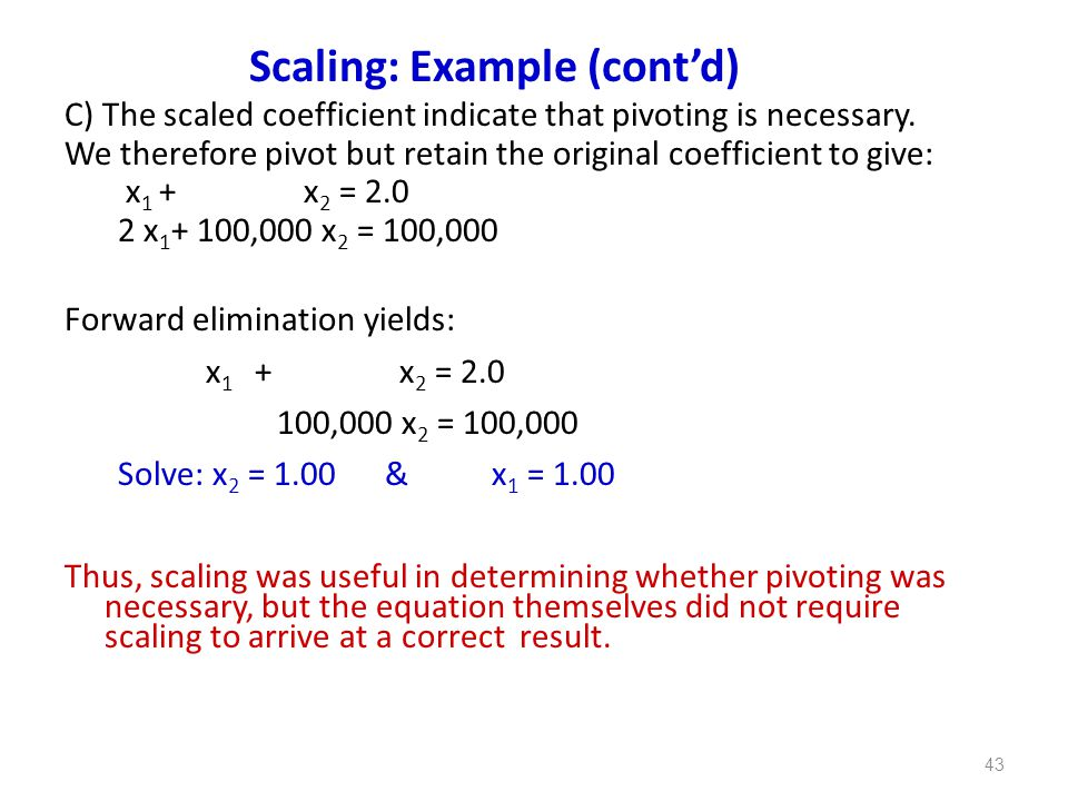 Scaling: Example (cont'd)