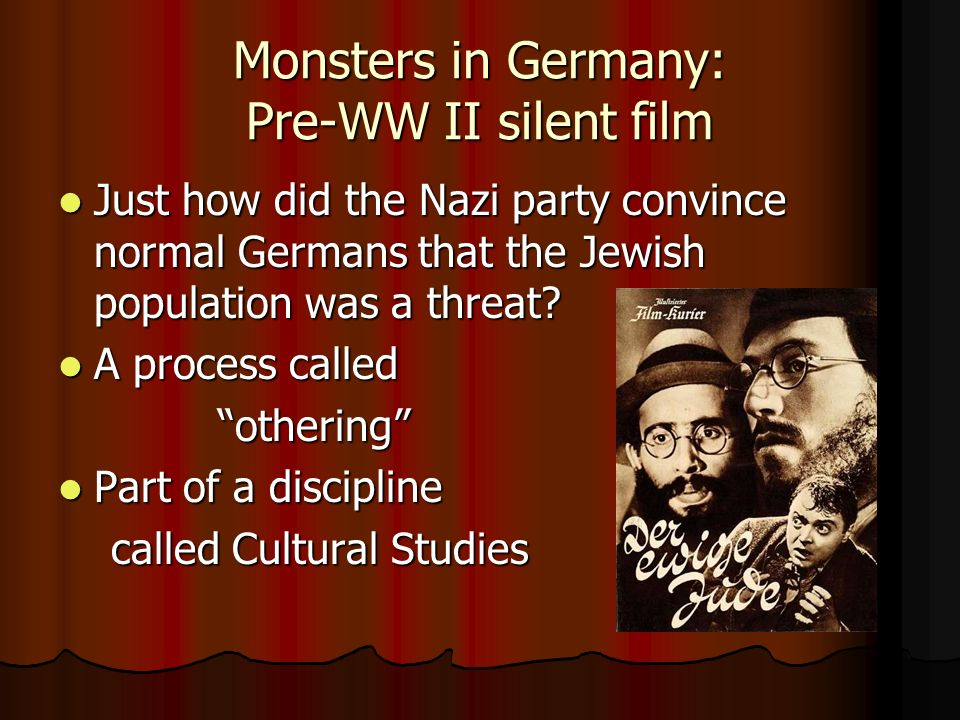 Monsters in Germany: Pre-WW II silent film