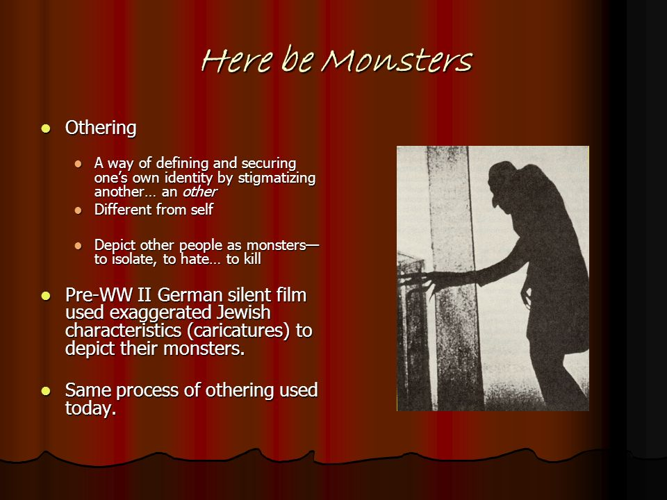 Here be Monsters Othering