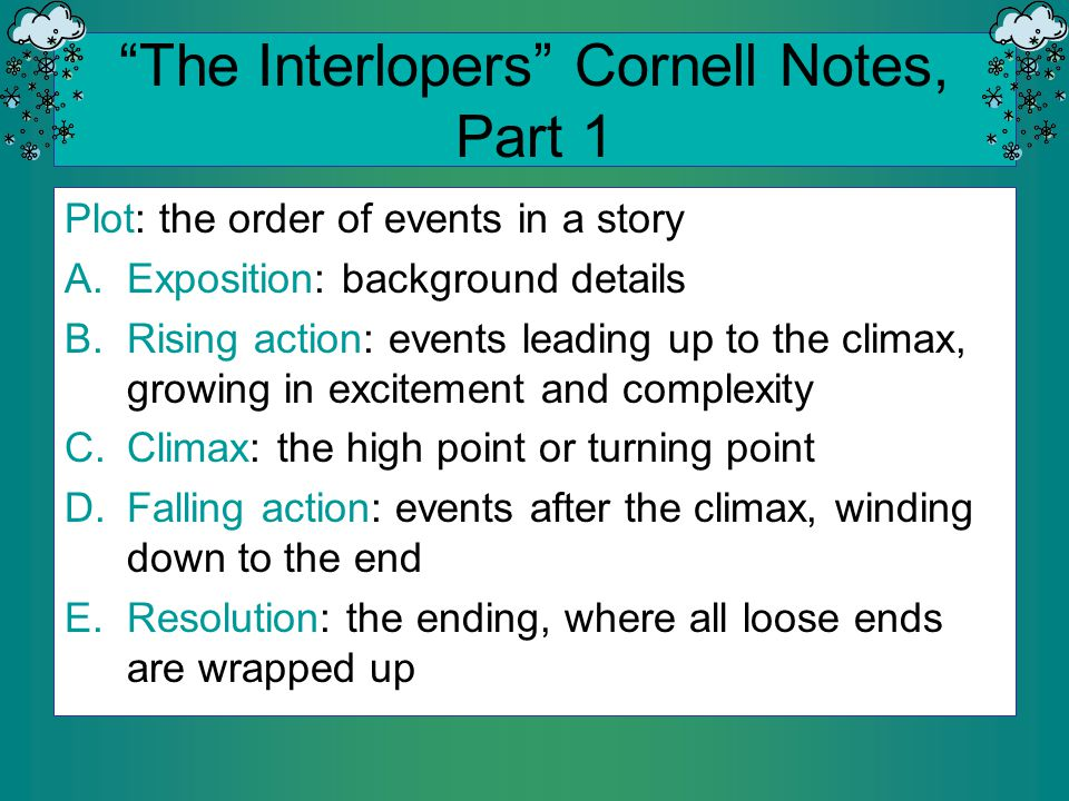 The interlopers cornell notes part 1 ppt download the interlopers cornell notes part 1 ccuart Gallery