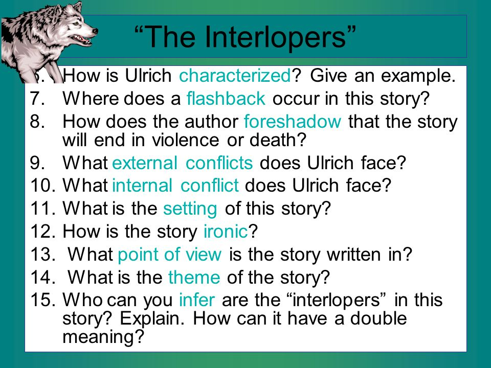 what is the plot of the interlopers
