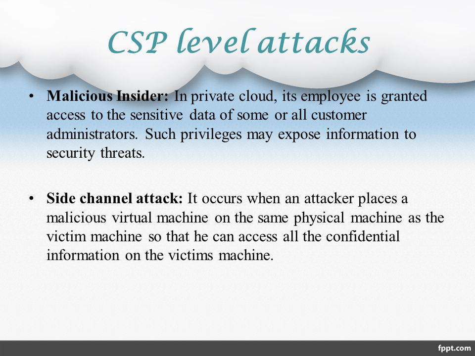 CSP level attacks