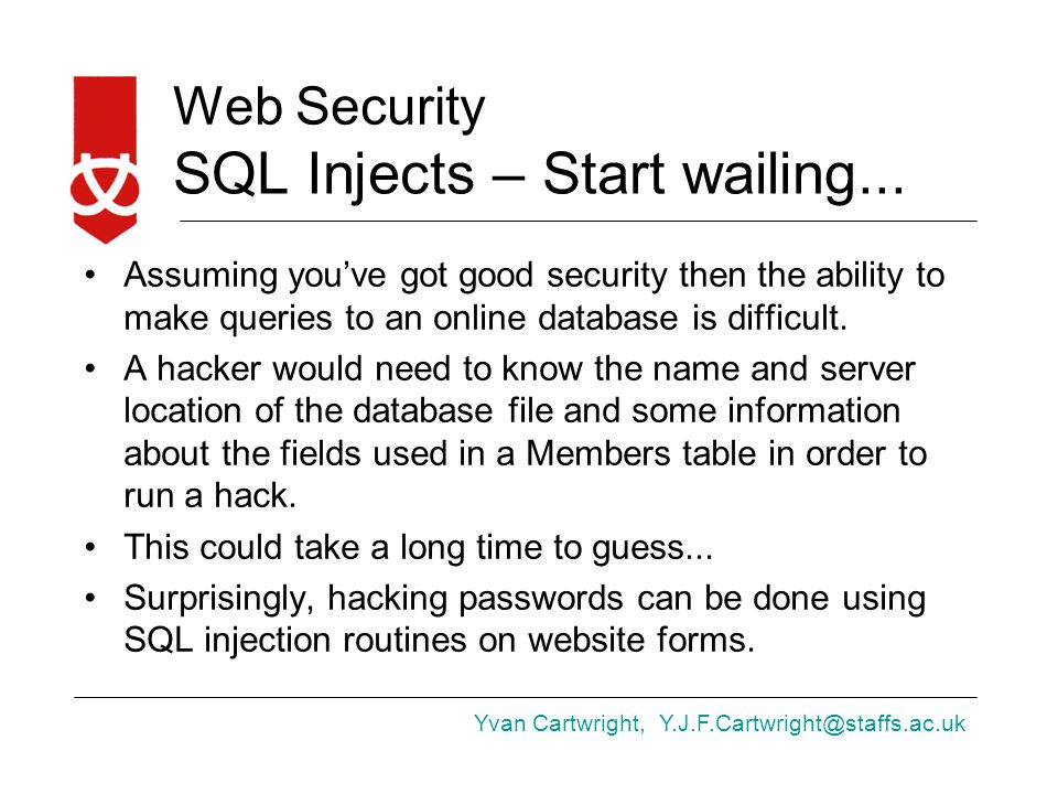 """Introduction The concept of """"SQL Injection"""" - ppt download"""