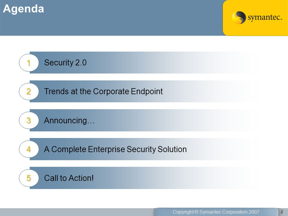 Agenda Security Trends at the Corporate Endpoint 2 Announcing… 3