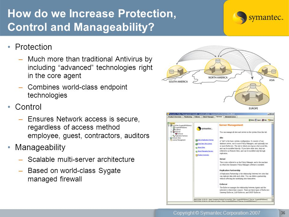 How do we Increase Protection, Control and Manageability