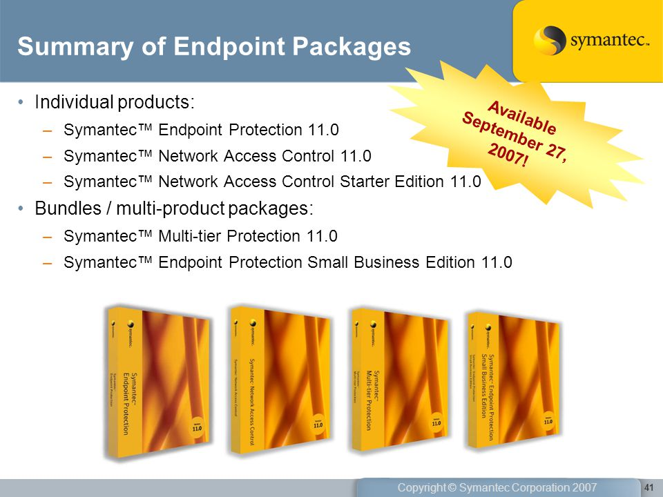 Summary of Endpoint Packages