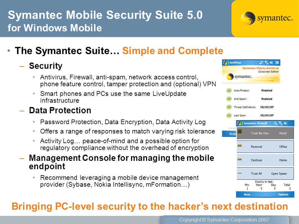 Symantec Mobile Security Suite 5.0 for Windows Mobile