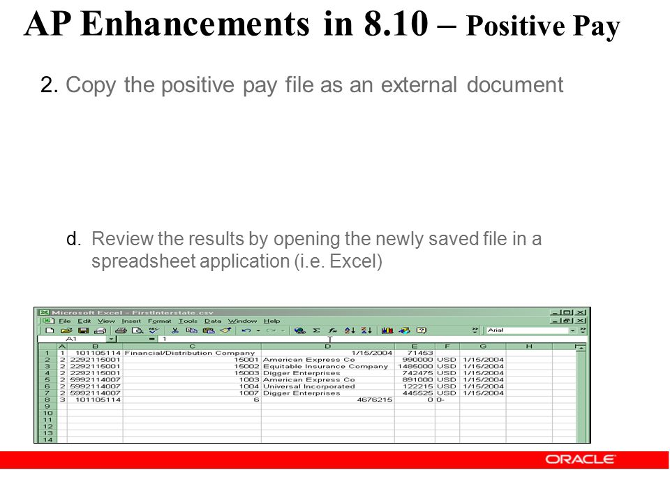 AP Enhancements in 8.10 – Positive Pay