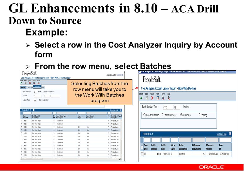 GL Enhancements in 8.10 – ACA Drill Down to Source
