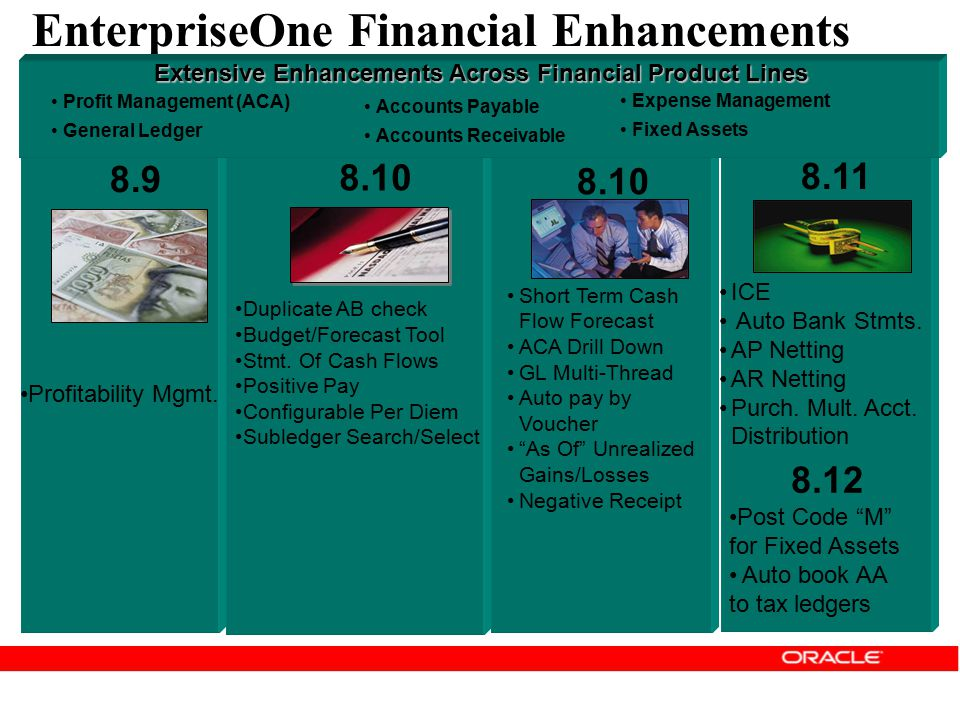 EnterpriseOne Financial Enhancements