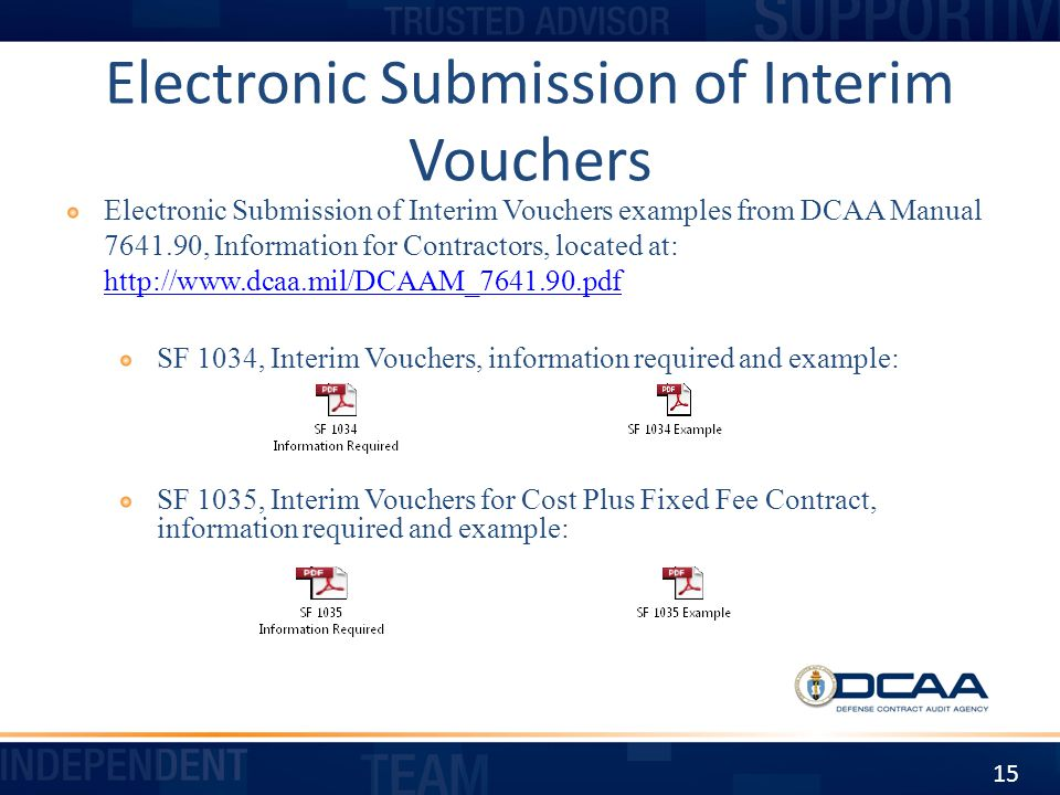 Electronic Submission of Interim Vouchers