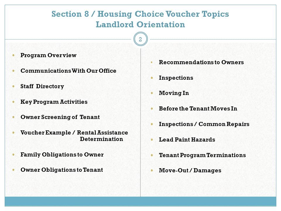 City of Cedar Rapids Housing Services Housing Choice Voucher