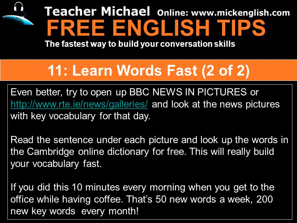 Free English Tips 1 Find The Passion For Learning Ppt Download