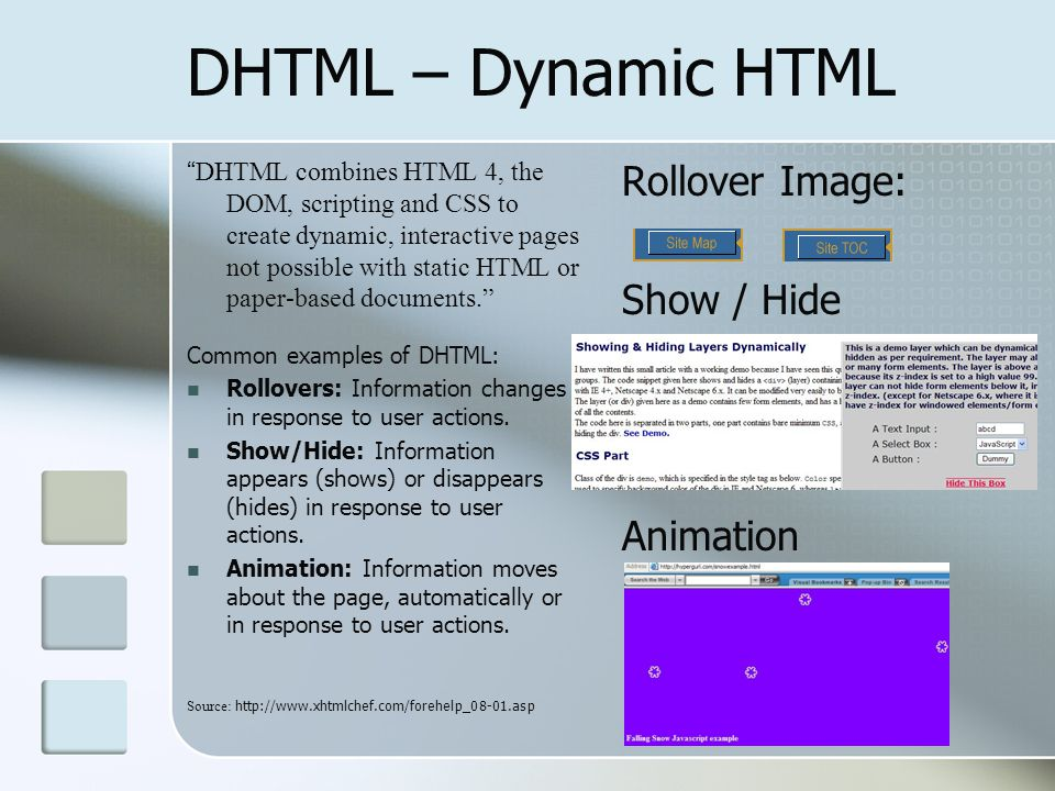Languages for Dynamic Web Documents - ppt download