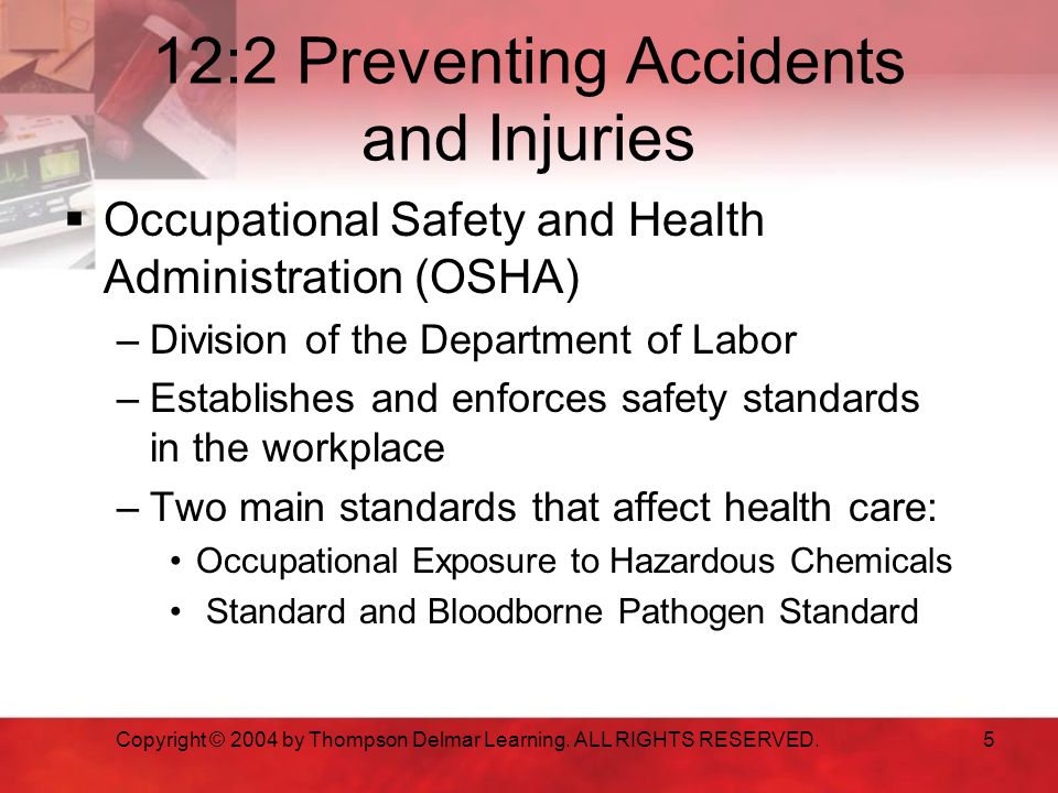 12:2 Preventing Accidents and Injuries