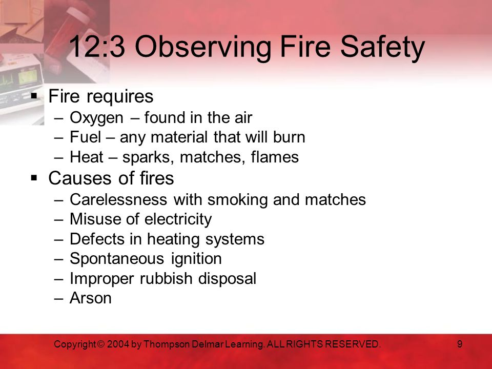 12:3 Observing Fire Safety