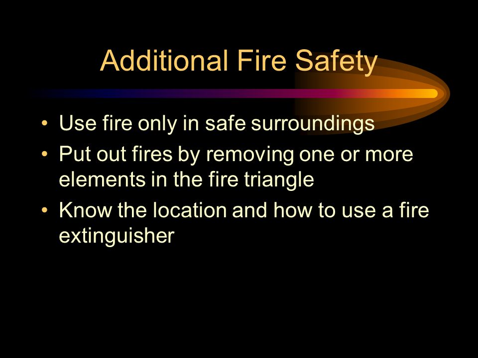 Additional Fire Safety