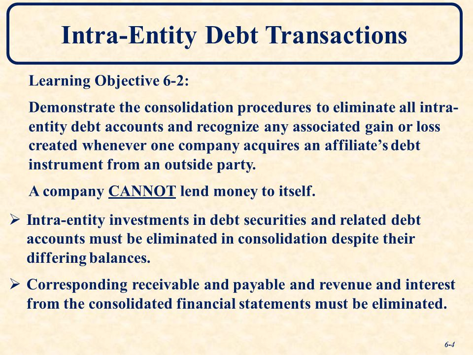 Intra-Entity Debt Transactions