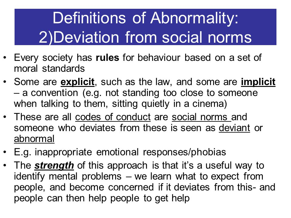 deviation of social norms