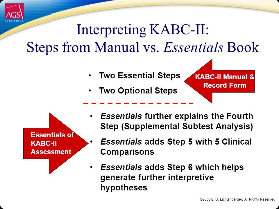 kabc ii advanced interpretation elizabeth o lichtenberger ph d rh slideplayer com DAS- II KABC-II Averages
