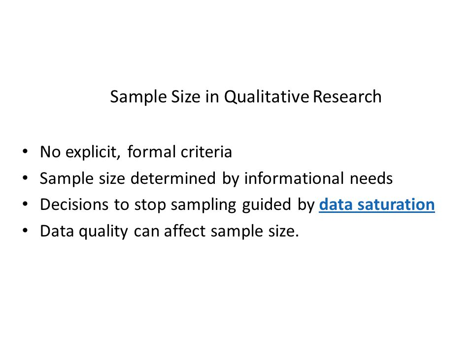 how to choose sample size in qualitative research