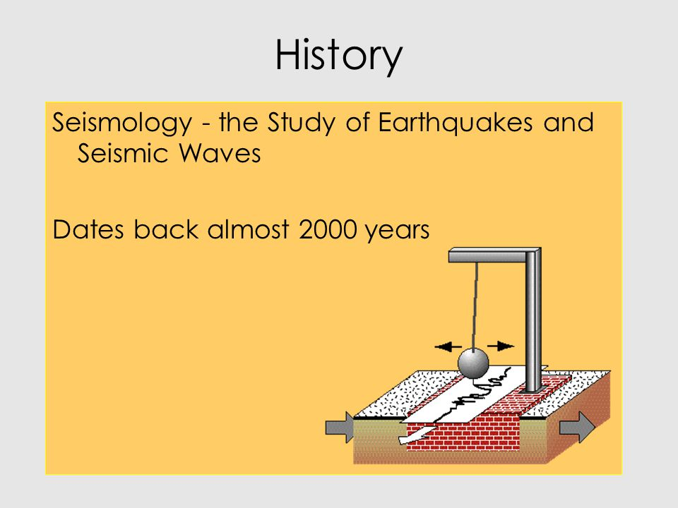 History Seismology - the Study of Earthquakes and Seismic Waves
