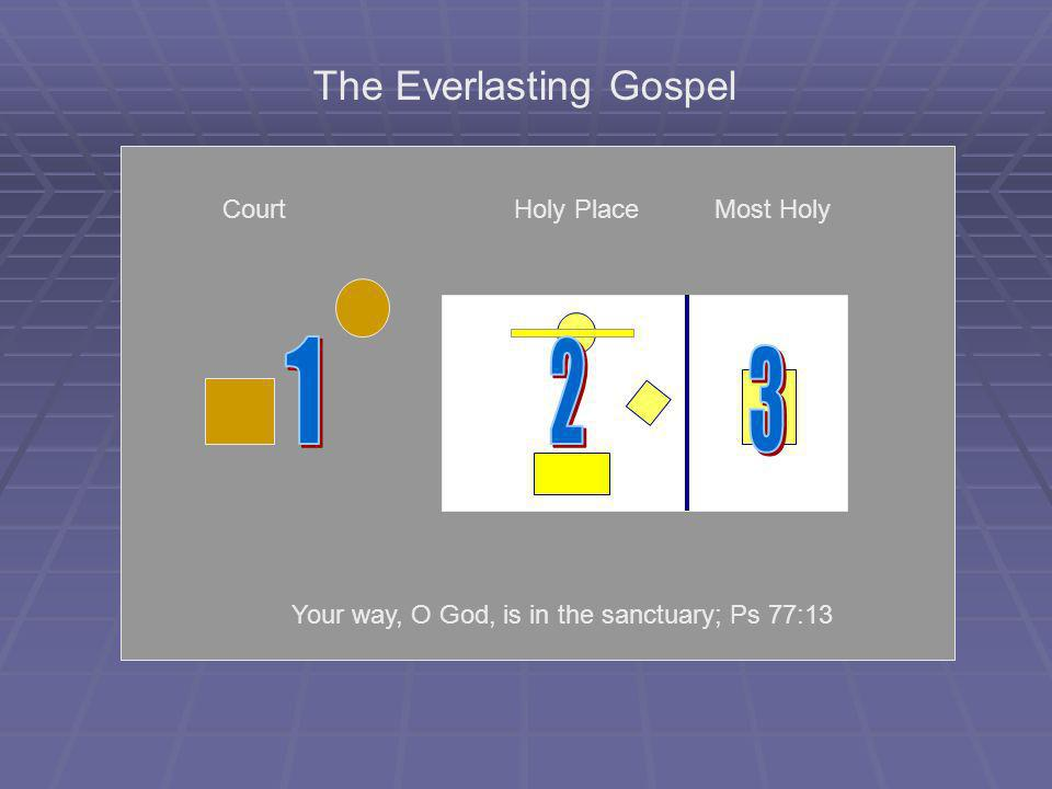 1 2 3 The Everlasting Gospel Court Holy Place Most Holy