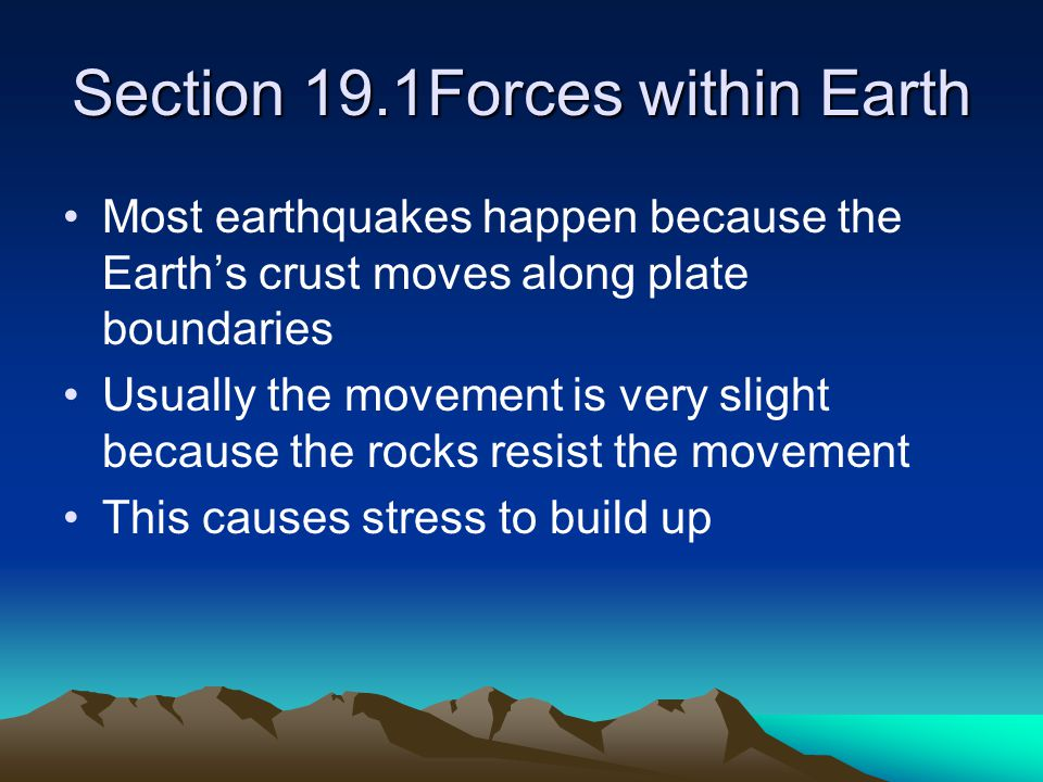Section 19.1Forces within Earth
