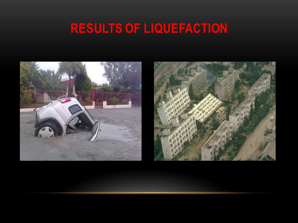 Results of Liquefaction