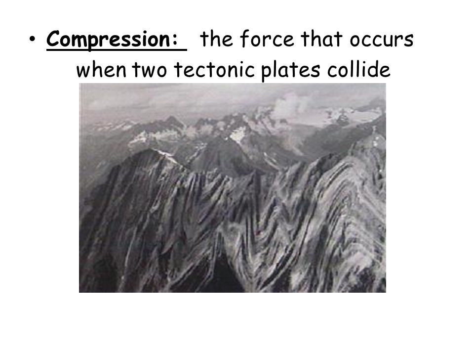Compression: the force that occurs