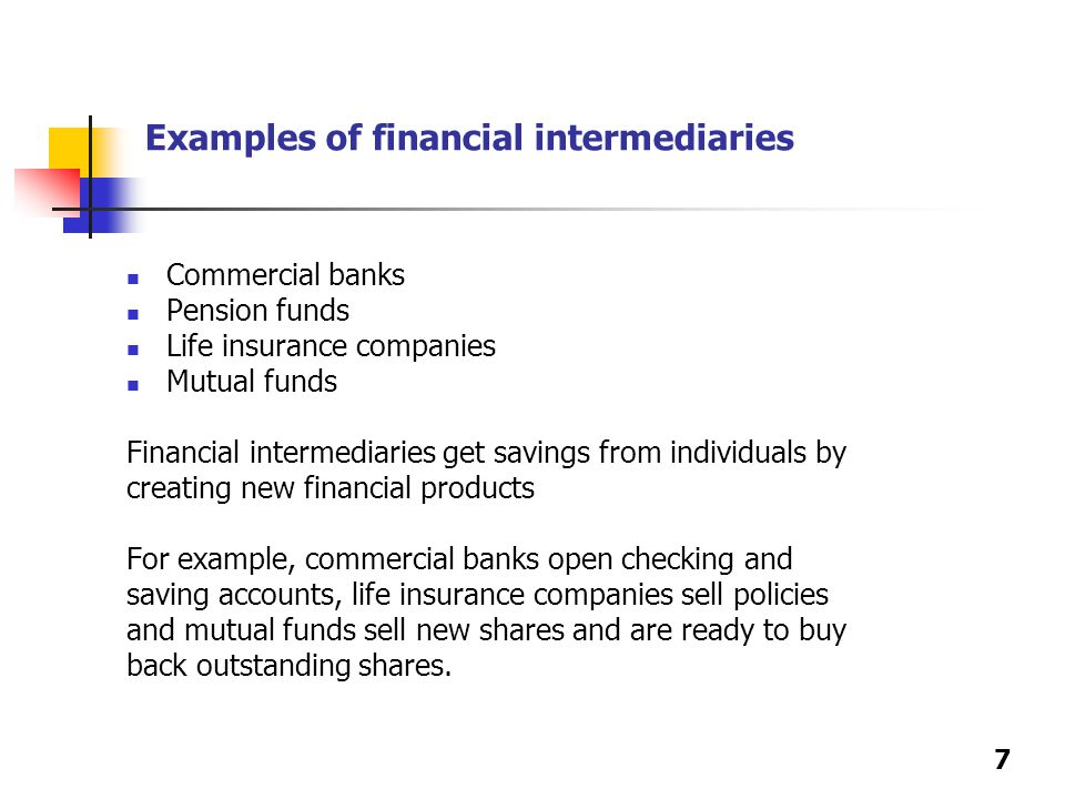 Investment banks financial intermediaries examples