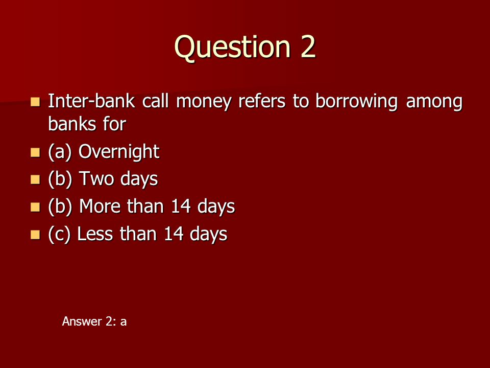 money and banking questions and answers