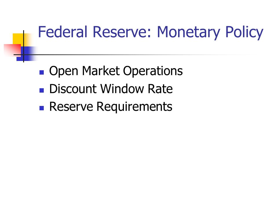 Federal Reserve: Monetary Policy