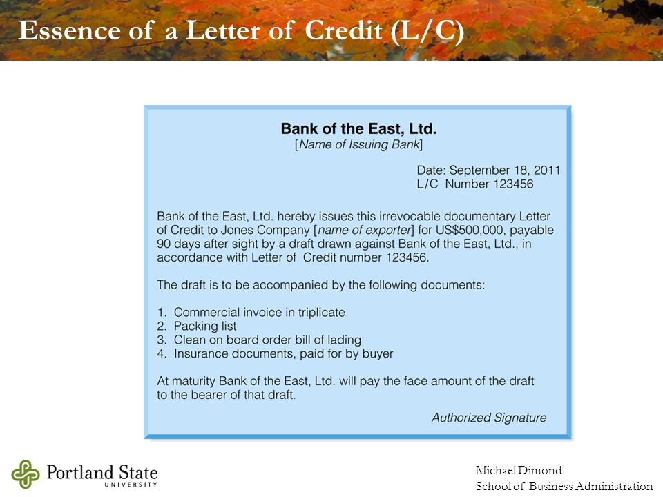 Essence of a Letter of Credit (L/C)