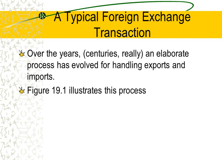 Process of a Typical Foreign Trade Transaction