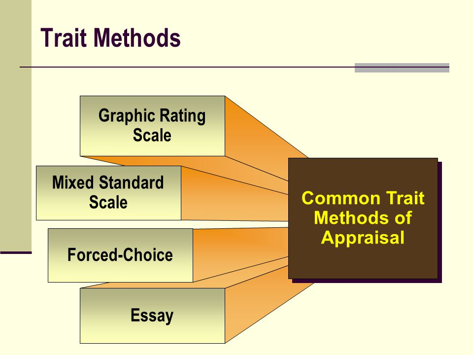 Common Trait Methods of Appraisal