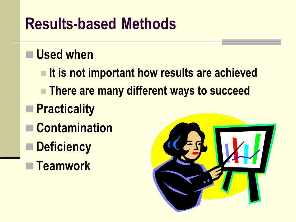 Results-based Methods