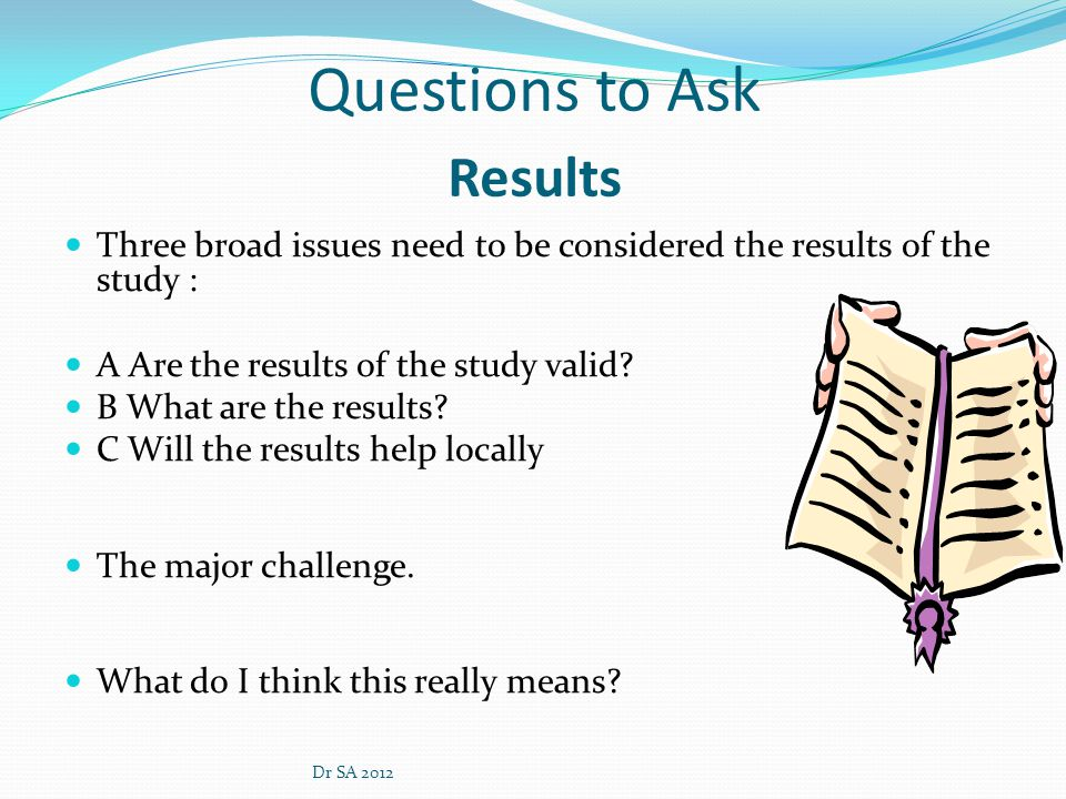 Questions to Ask Results