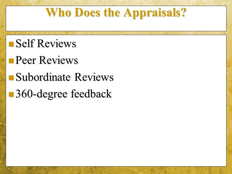 Who Does the Appraisals