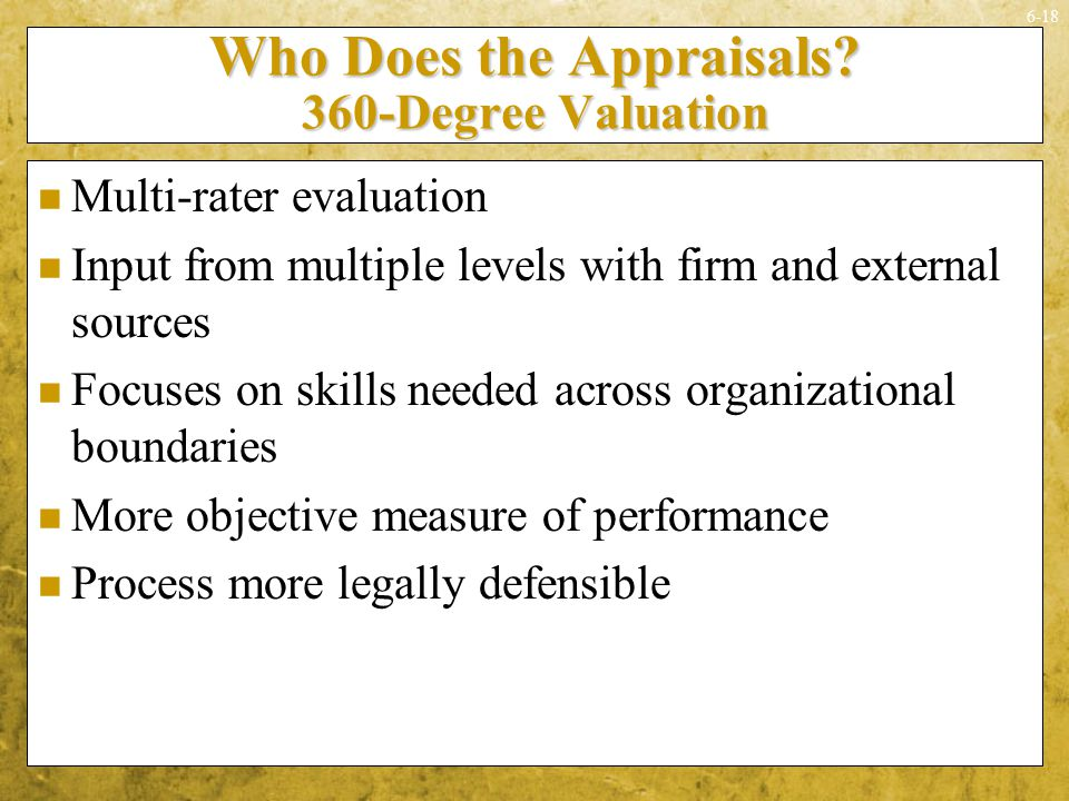Who Does the Appraisals 360-Degree Valuation