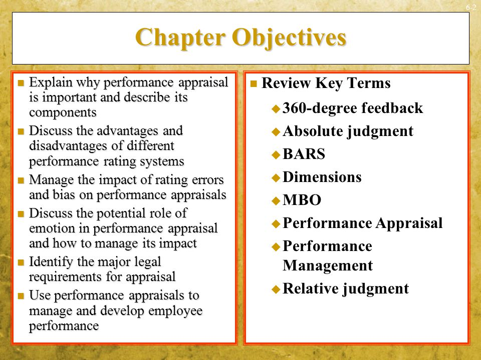 Chapter Objectives Review Key Terms 360-degree feedback