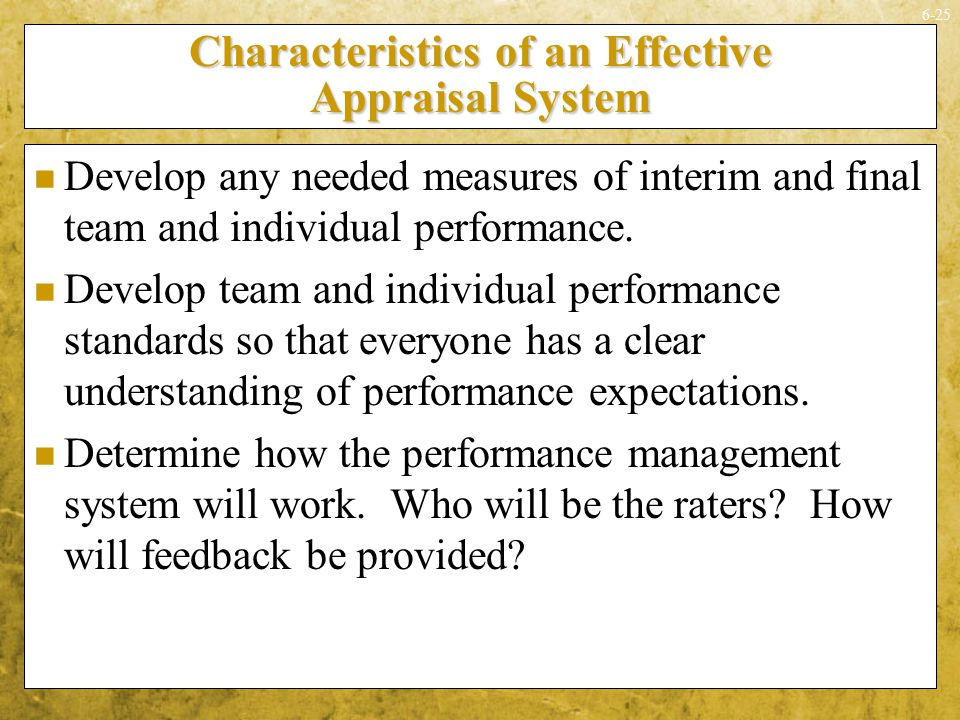 Characteristics of an Effective Appraisal System