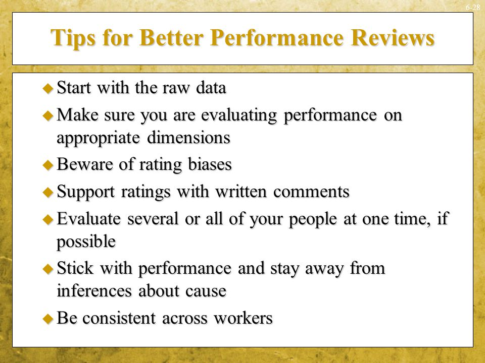 Tips for Better Performance Reviews