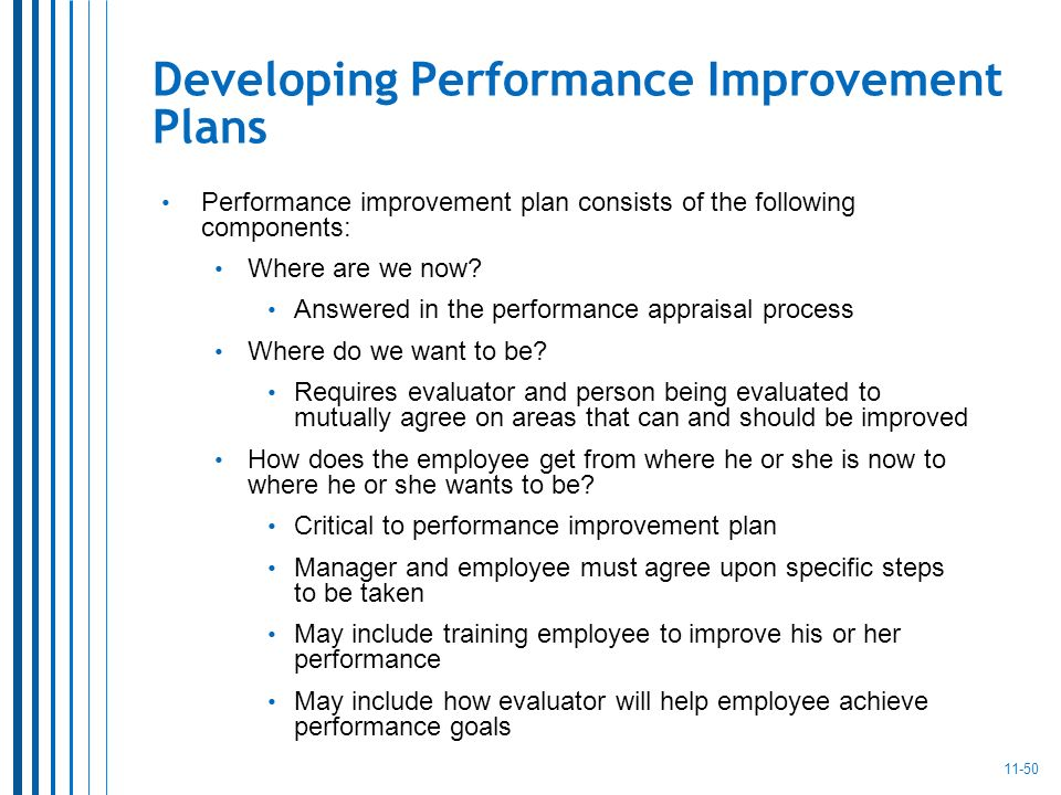 how to develop a performance improvement plan